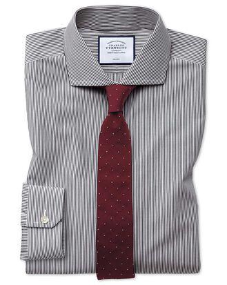 Bügelfreies Super Slim Fit Hemd mit Bengal-Streifen in Schwarz