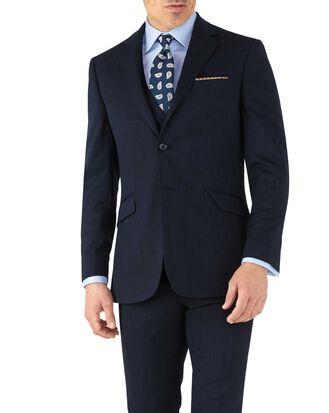Navy slim fit hairline business suit jacket