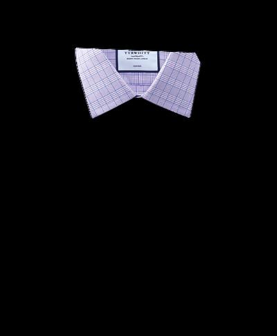 Bügelfreies Extra Slim Fit Hemd mit Prince-of-Wales-Karos in Lila und Blau