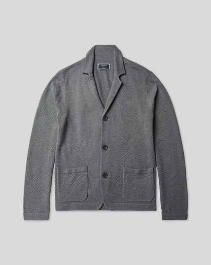 Knitted Jacket - Grey
