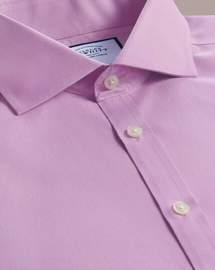 Extra slim fit violet non-iron poplin spread collar shirt