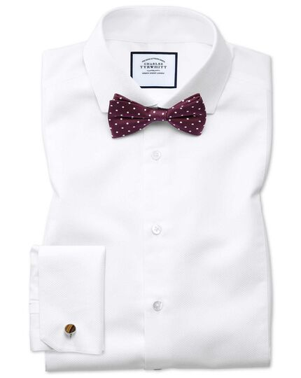 Burgundy silk printed spot classic ready-tied bow tie