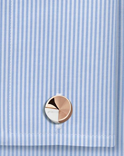 Rose gold and marble metal cufflinks