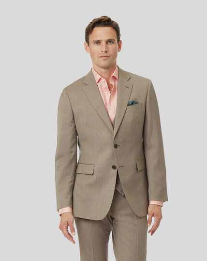 Herringbone Suit Jacket - Fawn