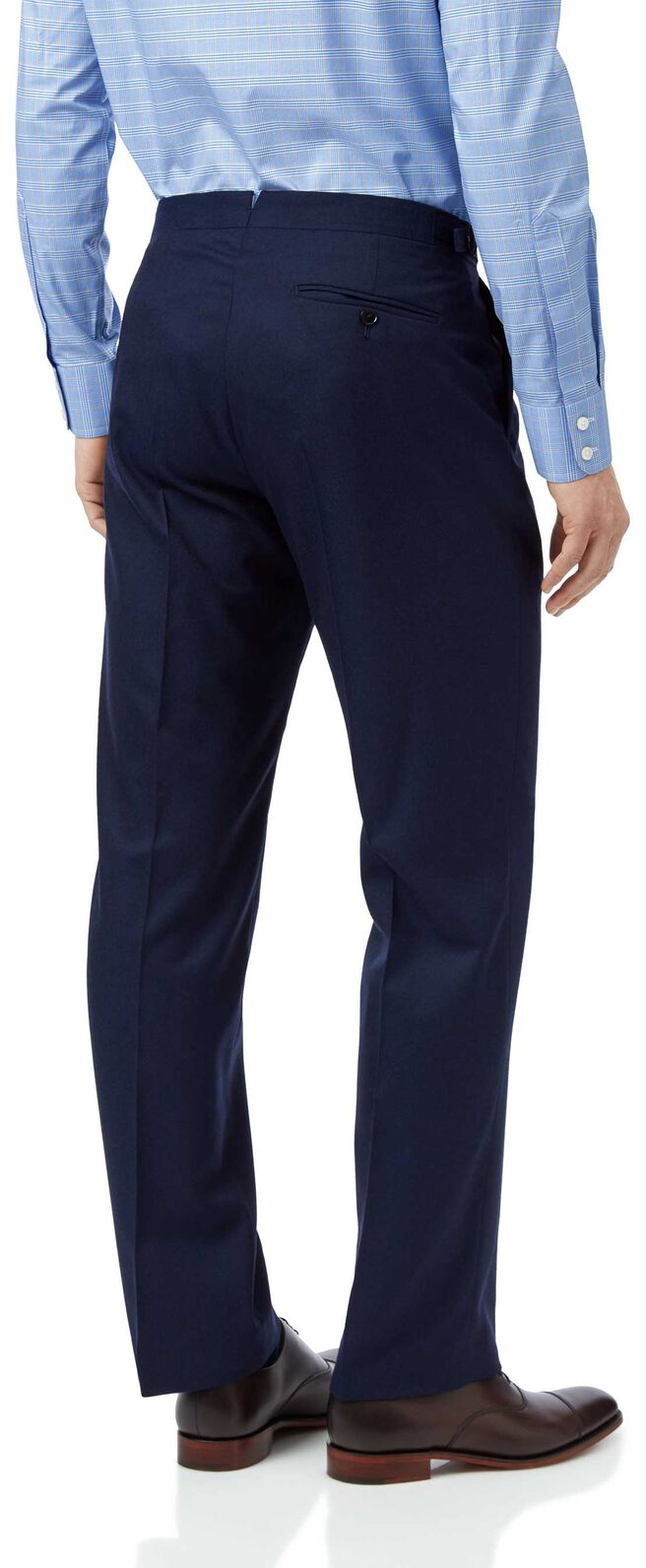 Blue classic fit British luxury suit