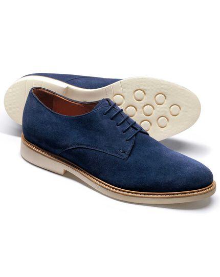 Truscott Derby-Schuh aus Verloursleder in Blau