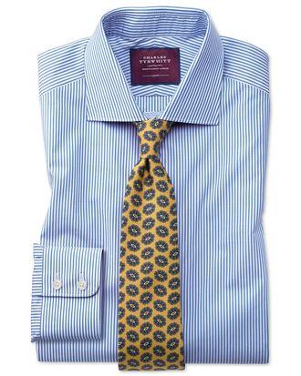 Slim fit blue stripe luxury shirt