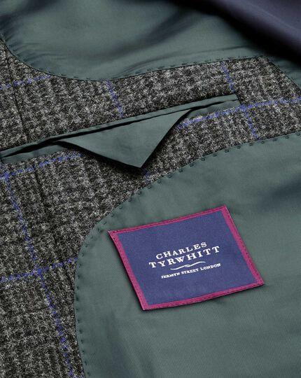 Epsom-Mantel aus Wolle mit Deckkaro in Grau