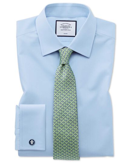 Light green shark print classic tie