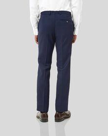 Costume Travel bleu encre œil-de-perdrix slim fit