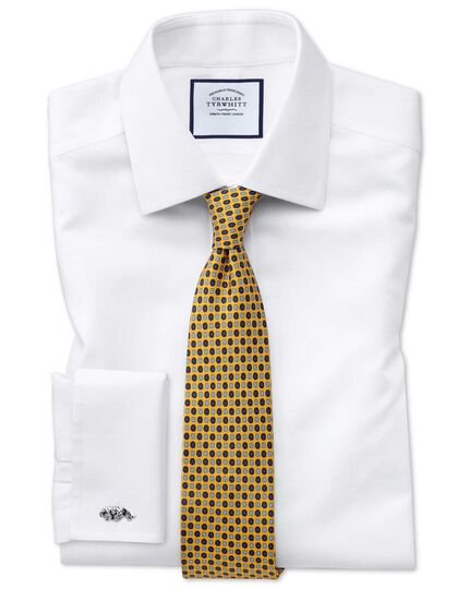 Gold silk printed classic tie