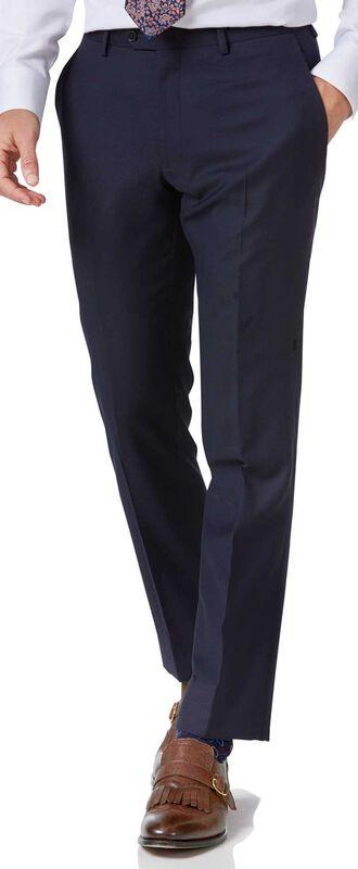 Pantalon de costume business bleu marine en twill slim fit