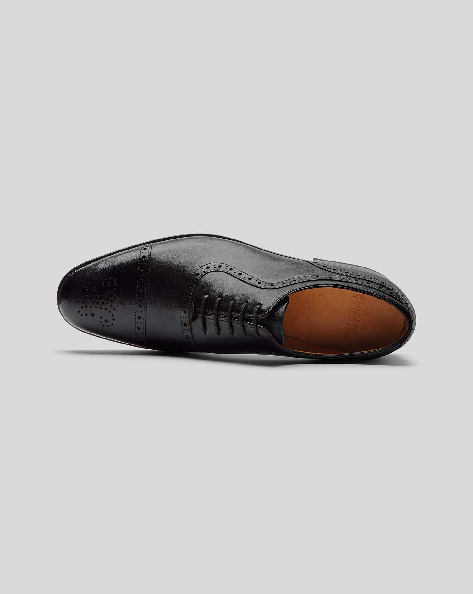 Goodyear rahmengenähte Budapester Oxford Schuhe Schwarz