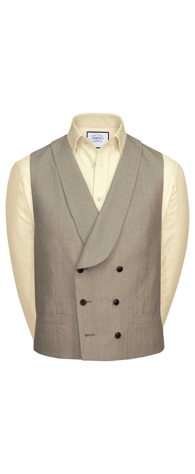 Natural Panama slim fit British suit