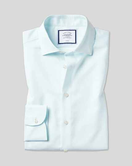 Business Casual Collar Non-Iron Cotton Linen Oxford Shirt - Green