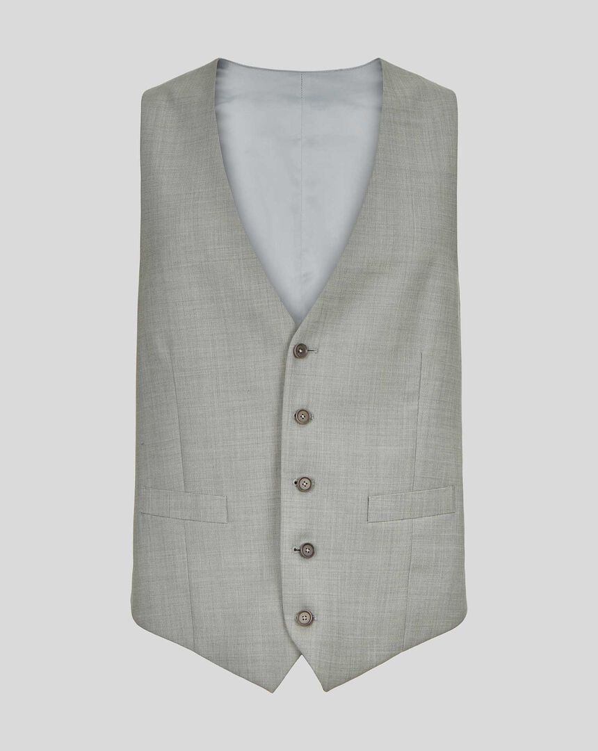 Sharkskin Travel Suit Vest - Silver