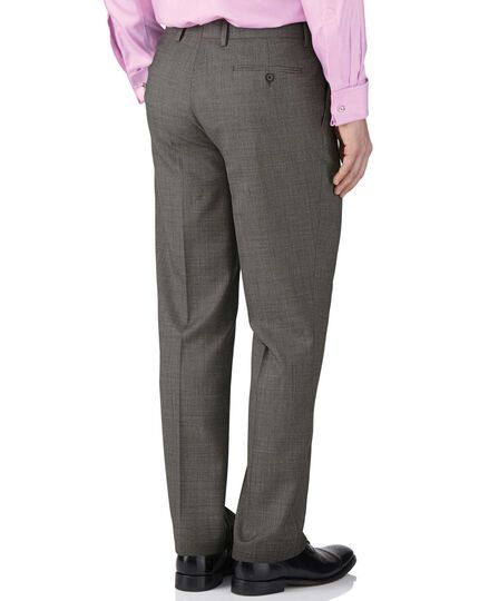Grey slim fit end-on-end business suit pants