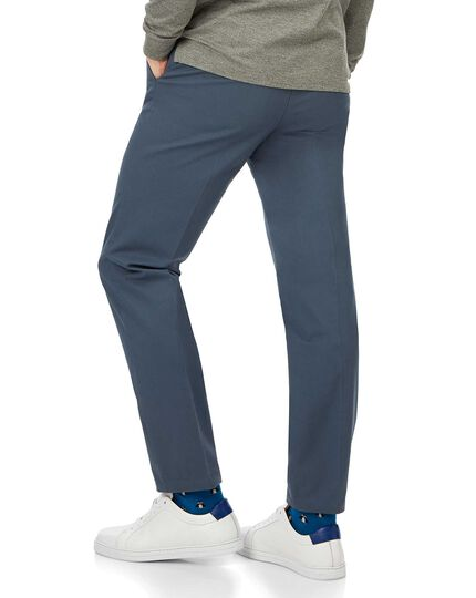 Airforce blue flat front non-iron chinos