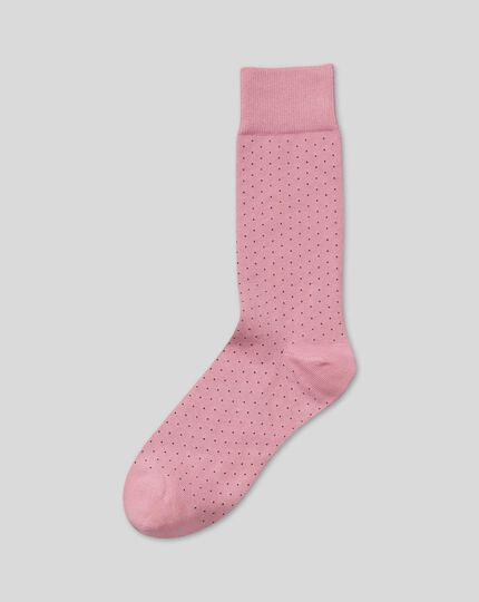 Micro Dash Socks - Pink & Navy