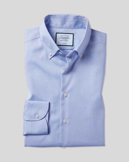 Chemise à col boutonné sans repassage - Bleu ciel