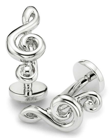 Treble clef cufflinks