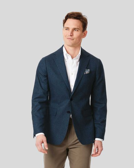 Italian Eco Wool Mix Jacket - Blue