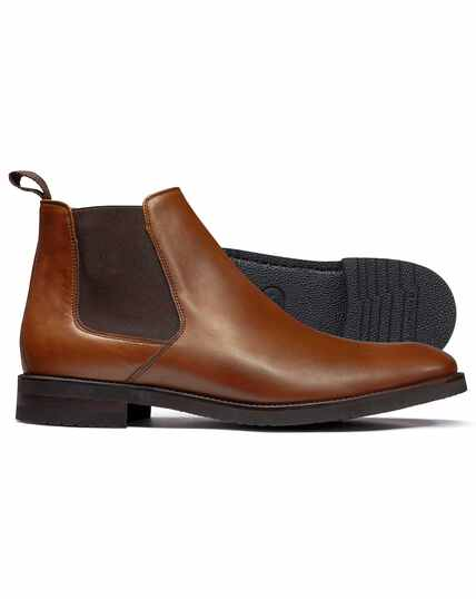 Tan extra lightweight Chelsea boots