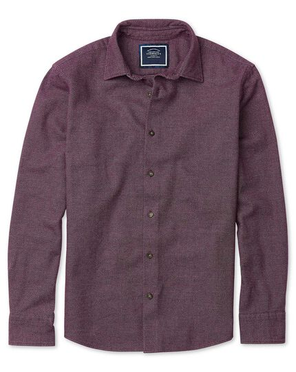 Slim fit winter flannel berry shirt