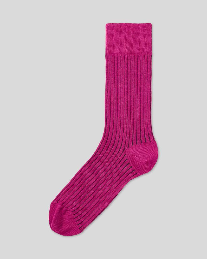 Shadow Stripe Socks  - Pink