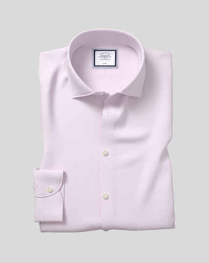 Business Casual Collar Non-Iron Cotton Linen Oxford Shirt - Lilac