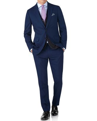 Royal slim fit crepe business suit