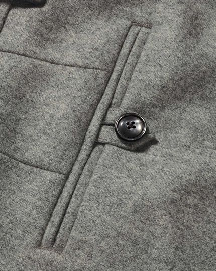 Light grey slim fit wool flannel pants