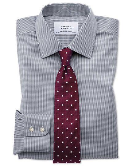Classic fit non-iron puppytooth dark grey shirt