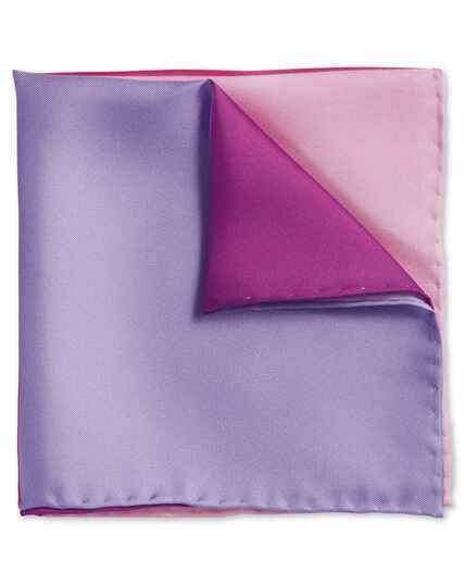 Pink quarter pocket square