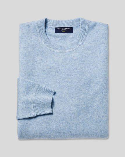 Merino Cashmere Crew Neck Sweater - Sky