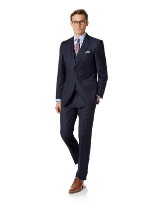 Navy slim fit Italian twill luxury suit