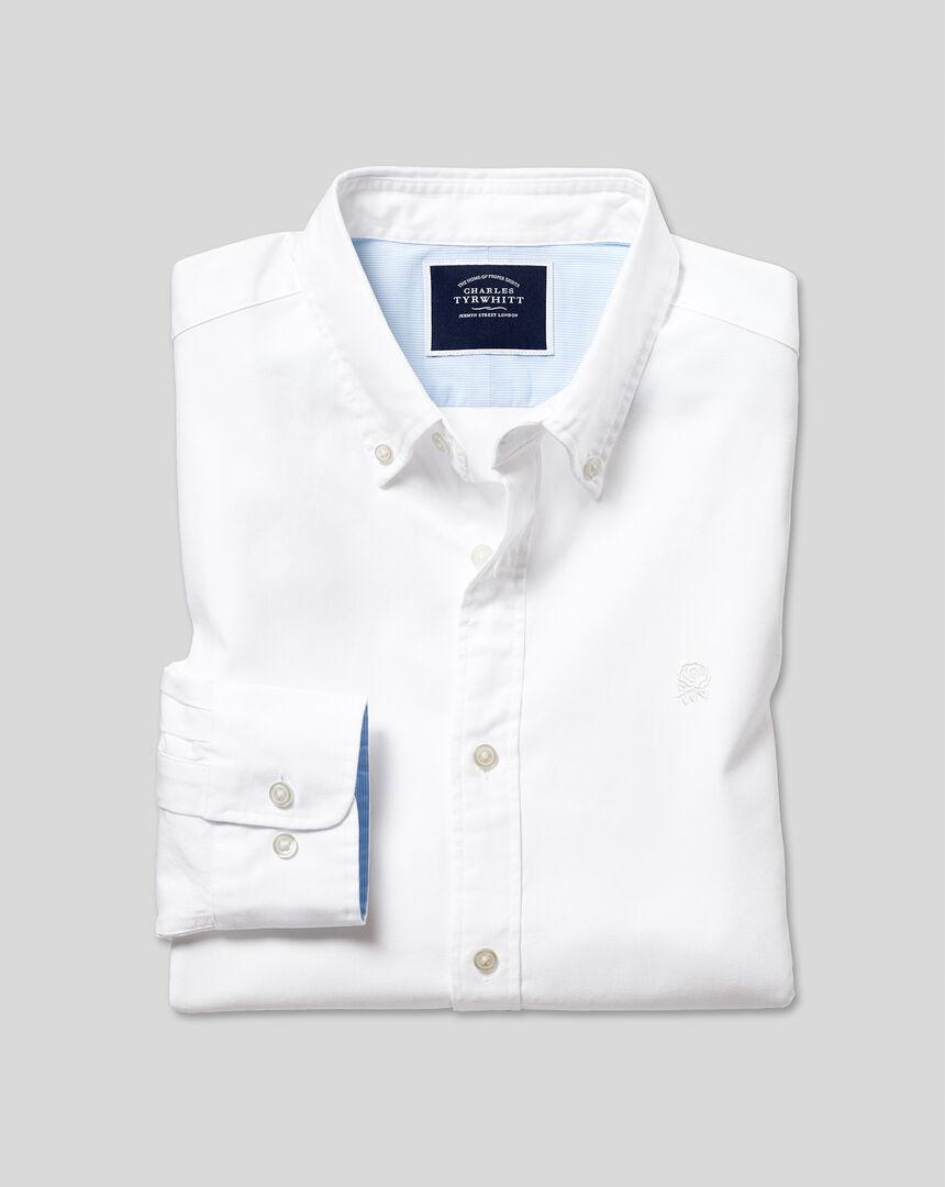 England Rugby Oxford Hemd mit Button-down-Kragen - Weiß