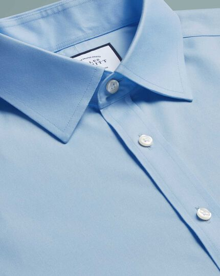 Classic fit sky blue non-iron twill shirt