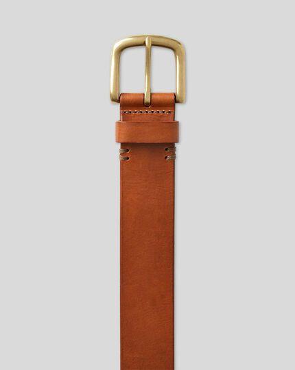 Brown casual chino belt