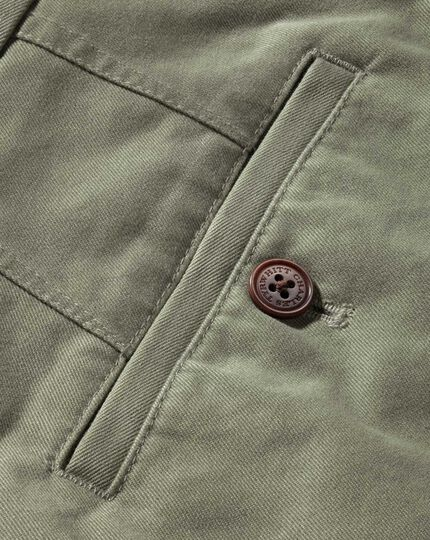 Light green classic fit flat front chinos