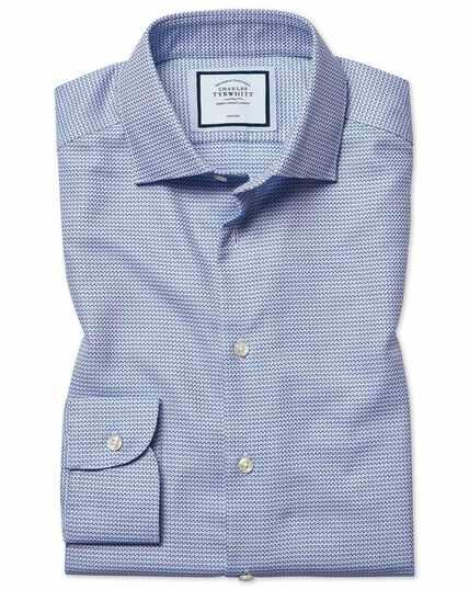 Bügelfreies Slim Fit Hemd mit Natural Stretch in Blau