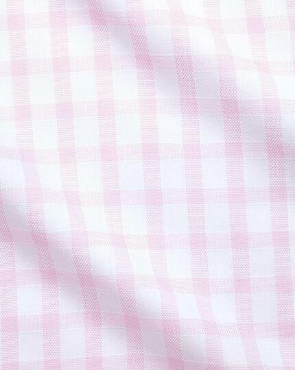Slim Fit Hemd mit Fensterkaros in Rosa