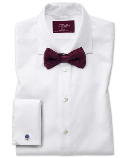 Burgundy silk knitted classic bow tie