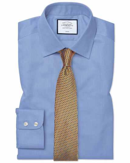 Classic fit non-iron blue royal Panama shirt