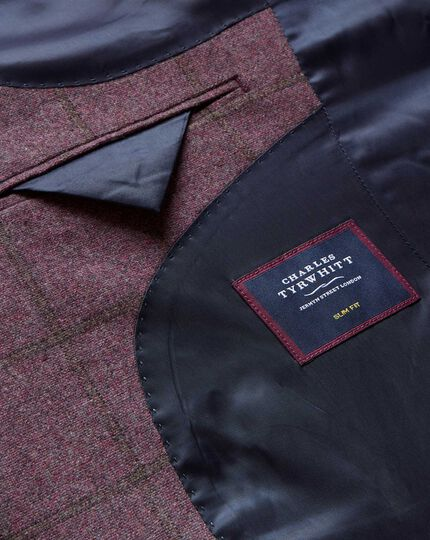 Tyrwhitt Gent Check Wool Jacket - Pink