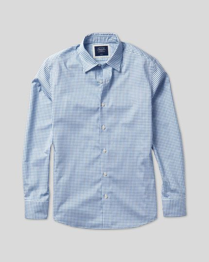 Classic Collar Brighton Collection Check Shirt - Blue