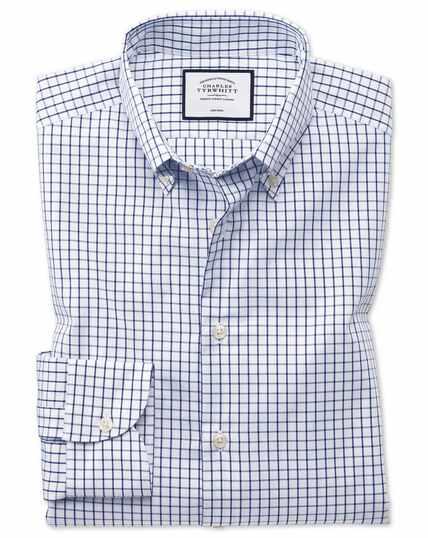 Business-Casual bügelfreies Hemd mit Button-down-Kragen - Marineblau