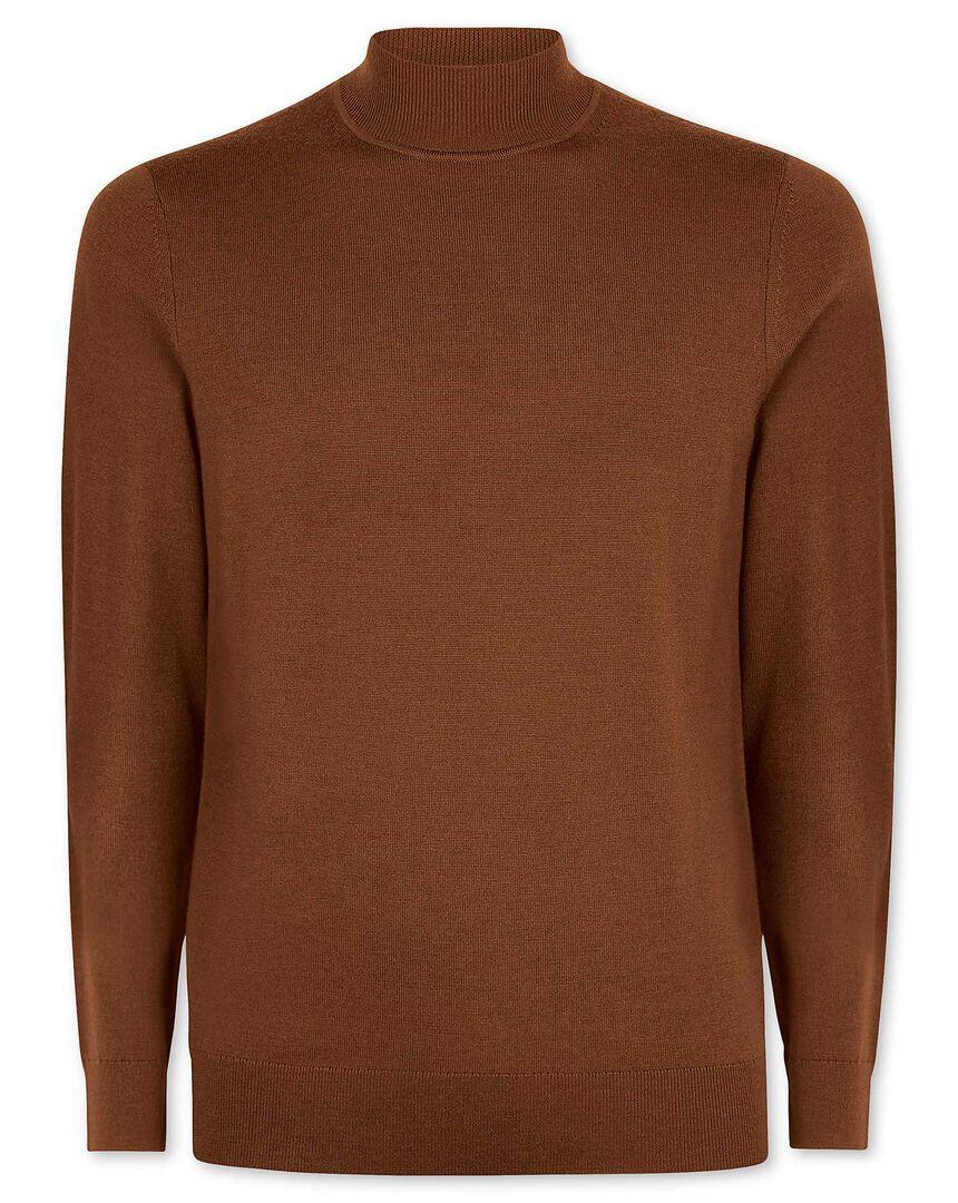 Brown merino turtle neck sweater