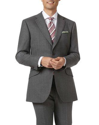 Slim Fit Luxusanzug-Sakko aus britischem mit Streifen in Anthrazit