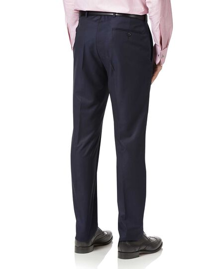 Navy slim fit luxury italian suit pants
